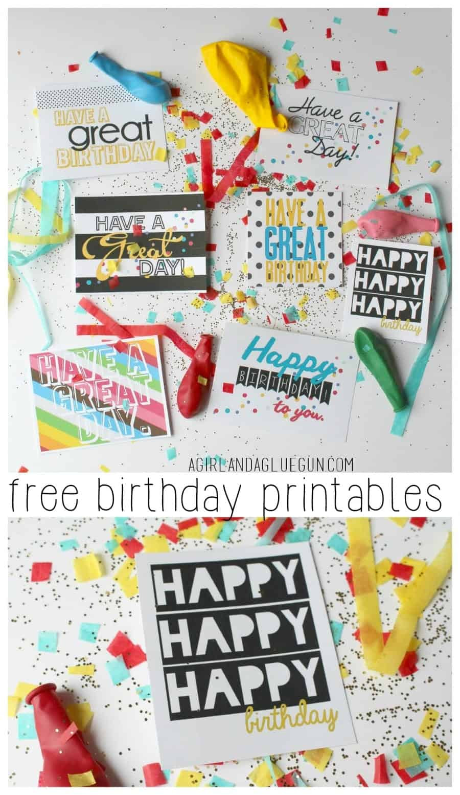 free birthday and have a great day tags printable