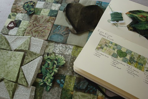 Green Cloth ~ Journal and Blocks