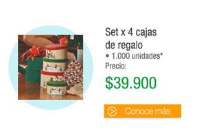 Set x 4 cajasde regalo - 1.000 unidades - PRECIO: $39.900