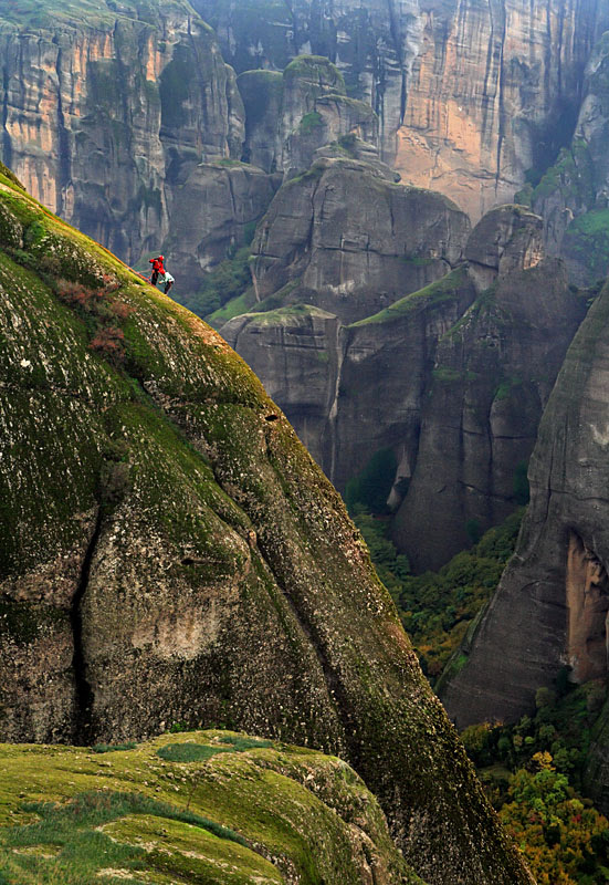 Climbers of the holy rocks - Meteora, Trikala
