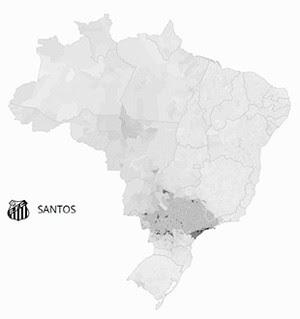 Mapa Santos (Foto: GloboEsporte.com)