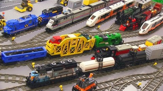 All of my #LEGO Trains in action in one video! 🚄