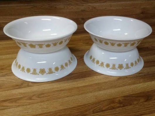 Corelle Butterfly Gold Cereal Bowls Set of 4 Corning Milk