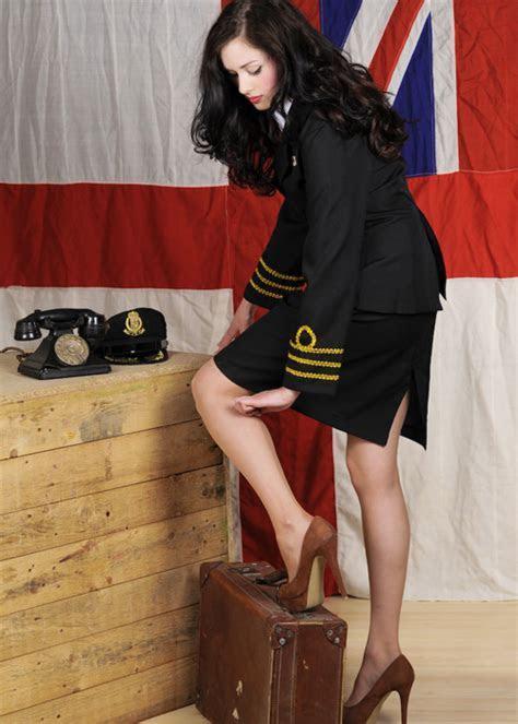 Ladies 40s Navy Officer Costume Ladies 40s Navy Officer
