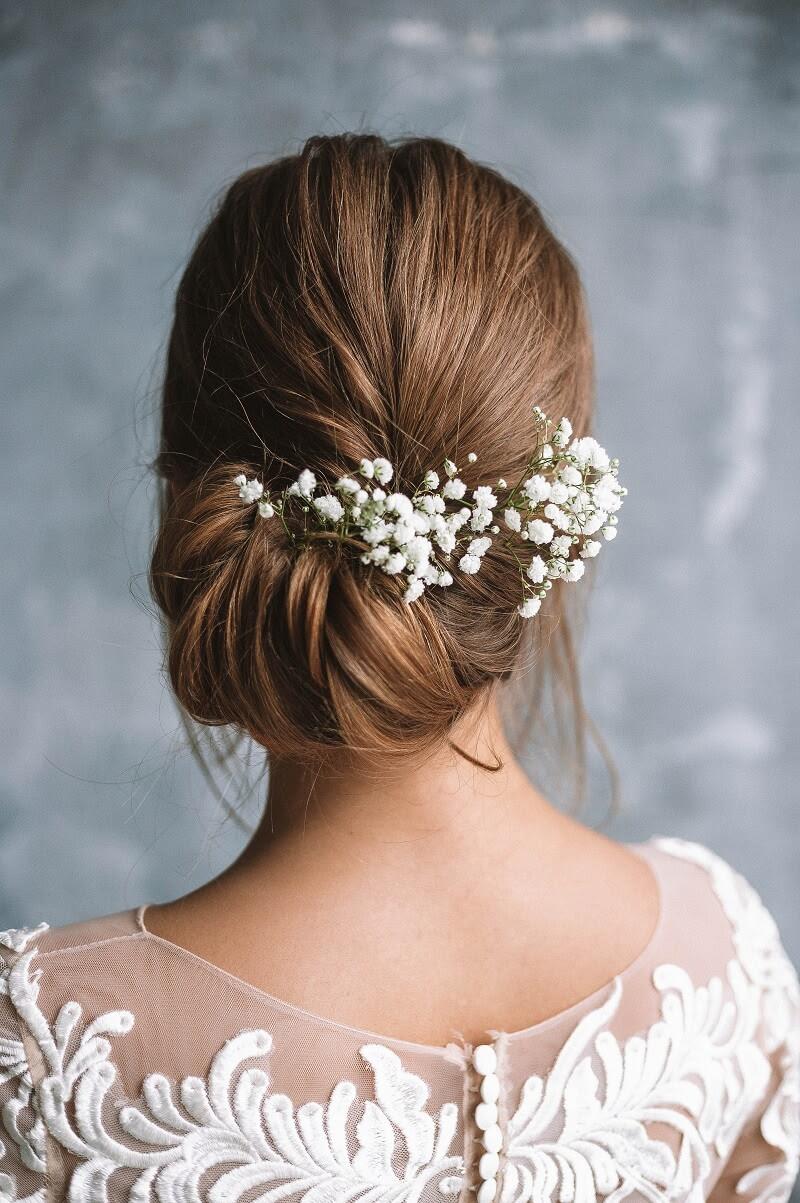 Brautfrisuren Mit Blumen 28 Ideen Für Blumen Im Haar Hochzeitskiste