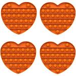 Fidget Pack Pop Pop – 2 pcs Pop Up Fidget Toys for Kids – Stress Relief Fidgets – Anti Stress Squeeze Toys (2 x Yellow) (Set: 4 x Orange)