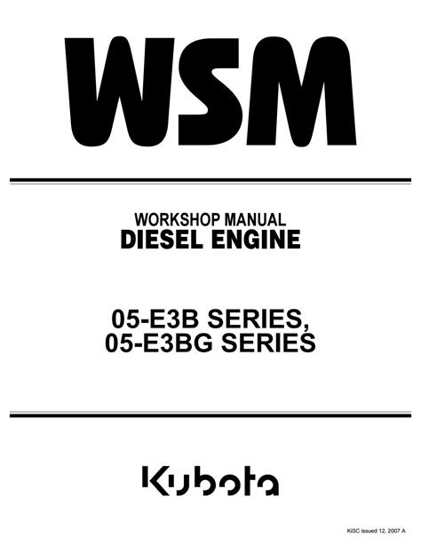 Kubota v1505 t e3b diesel engine service repair manual by