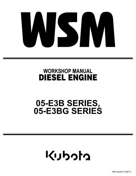 Kubota v1505 t e3b diesel engine service repair manual by