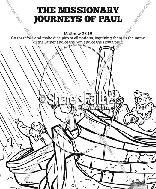 34 Paul And Barnabas Coloring Pages