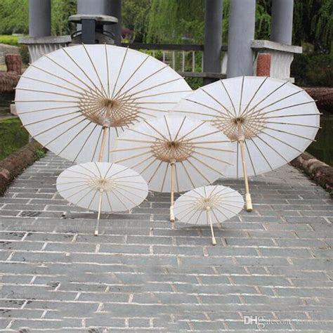 2019 2019 Bridal Wedding Parasols White Paper Umbrellas