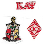 """Kappa Alpha Psi 3-Pack A Embroidered Stick-On Applique Patches [Red - 2""""]"""