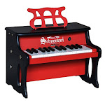 Schoenhut Piano 2514RB 27 Key 2 Tone Table Top - Red with Black