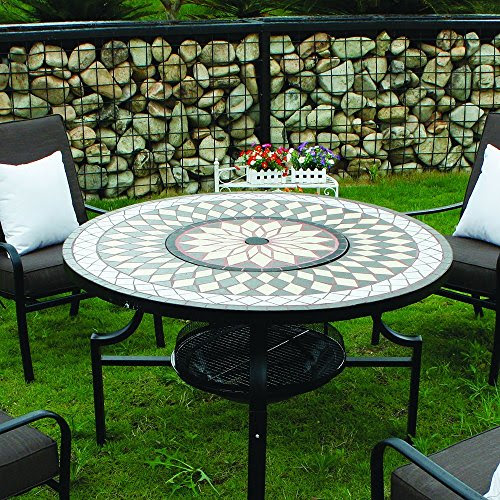 Kingfisher Pitset1 Fire Pit Dining Mosaic Set With 4 Chair ...