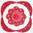Simply Red Quilt Pattern BOM Rosette Block