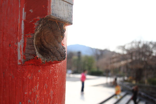 "The ""ear"" on the main gate in Kiyomizu temple"