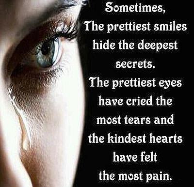 The Prettiest Smiles Hide The Deepest Secrets Quote Picture