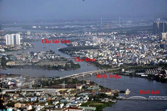 4-Không ảnh trên sông Sàigòn