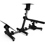 Arozzi Velocità - Gaming chair wheel/pedals stand - metal - black