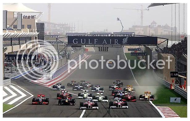 Salida GP Bahrein 2009