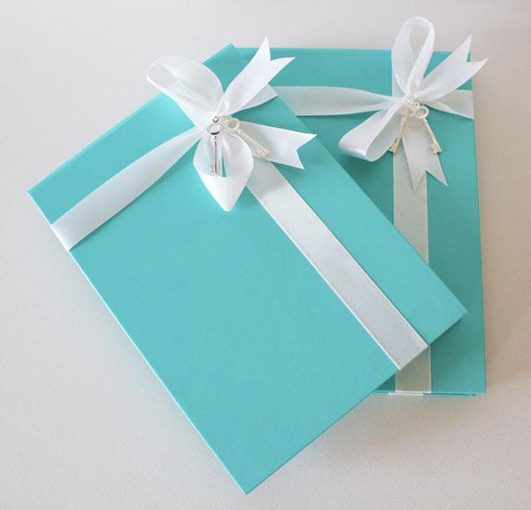 Tiffany Blue Wedding Invitation Box image source Natoof