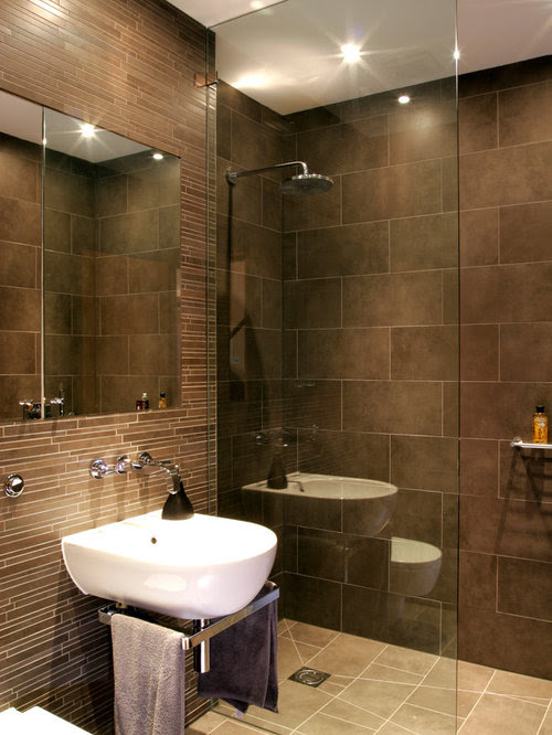 Brown Bathroom Home Design Ideas, Pictures, Remodel and Decor