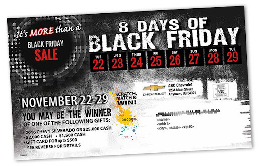 Ideas for direct mail for Black Friday