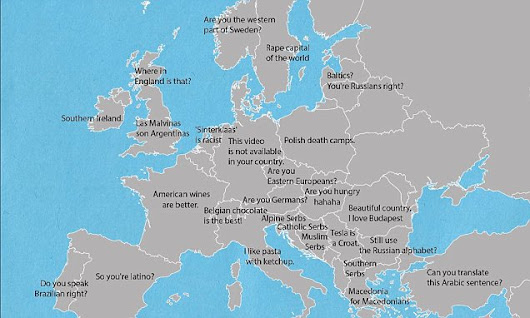 Map reveals how to irritate different Europeans with a single sentence