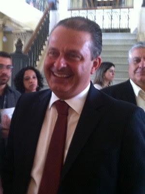 Eduardo Campos participou de palestra em faculdade de São Paulo (Foto: Tatiana Santiago)