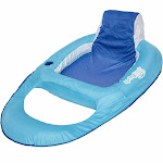 SwimWays 6038971 Spring Float Inflatable Vinyl Adult Recliner Pool Lounger, Blue by VM Express