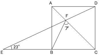 平面図形の角度 第92問 明星中学 2010年平成22年度 入試