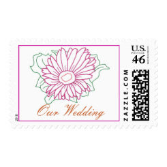 Fuchsia flower, Our Wedding, postage stamps stamp
