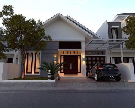 minimalis sederhana gambar tampak depan rumah minimalis 1