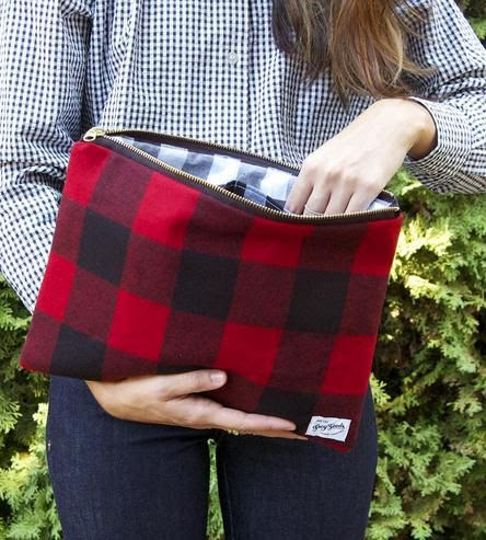 Buffalo Plaid Clutch