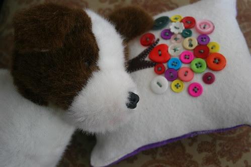 Haila's button pillow