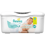 Pampers Sensitive Baby Wipes, White, Unscented - 64 count