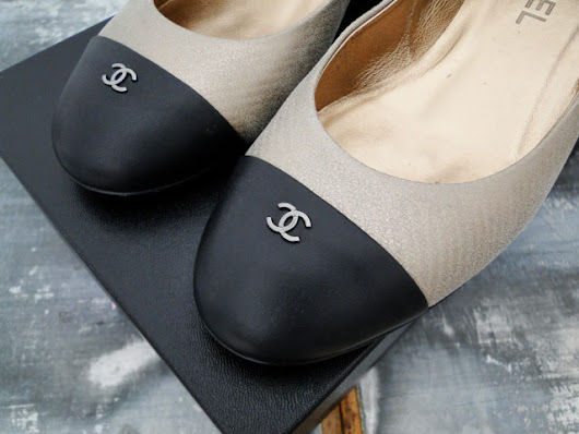 Chanel Cap Toe CC Low Heel Pump 8.5 | Jill's Consignment