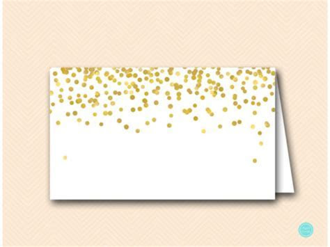 Goild Foil Food Labels, Placecard, Name Tag   Magical
