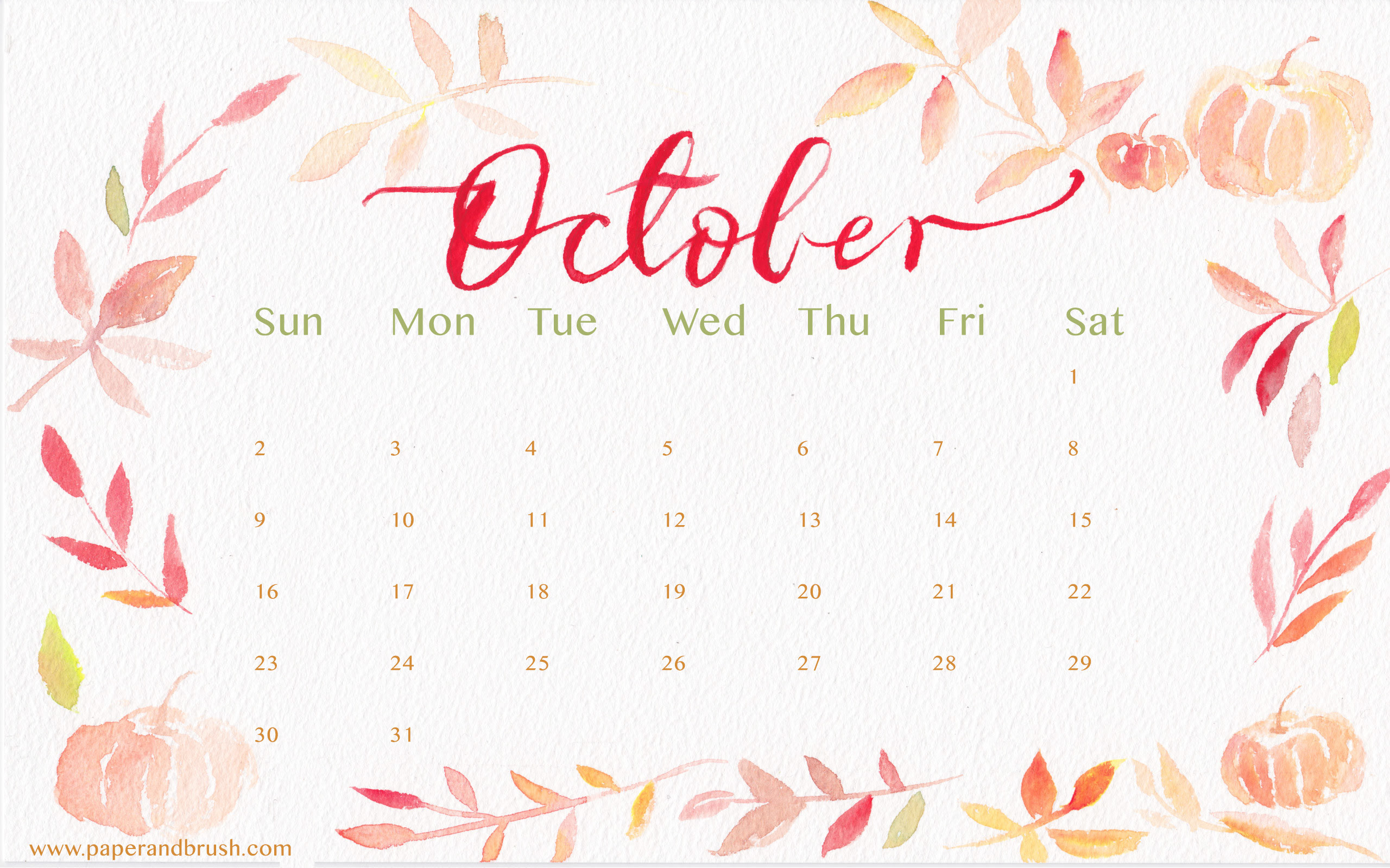 Desktop Wallpaper Calendars October 2018 68+ images