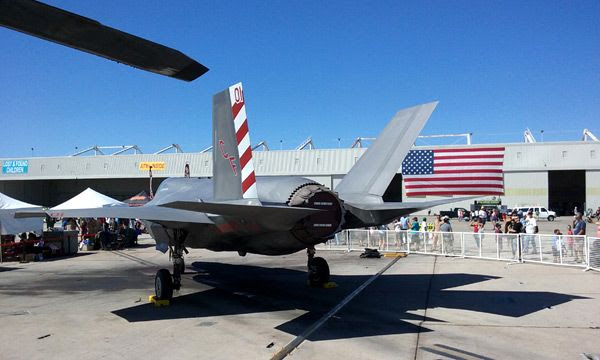 Another photo that I took of an F-35B Lightning II at the Miramar Marine Corps Air Station in San Diego...on September 24, 2016.