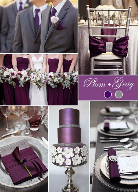 Plum And Grey Wedding Colors