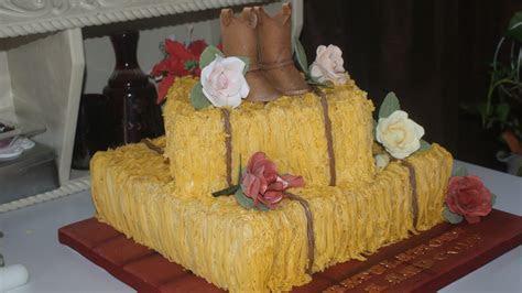Hay Bale Bridal Shower Cake   CakeCentral.com