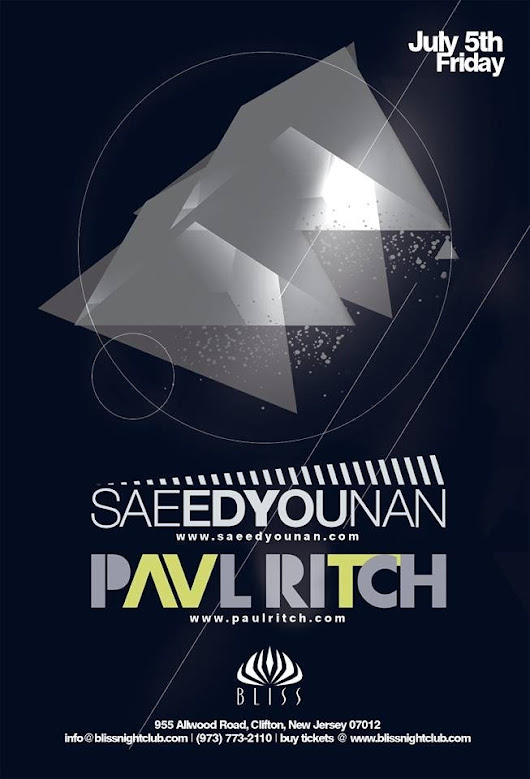 Independance Weekend with Paul Ritch and Saeed Younan at Bliss Lounge