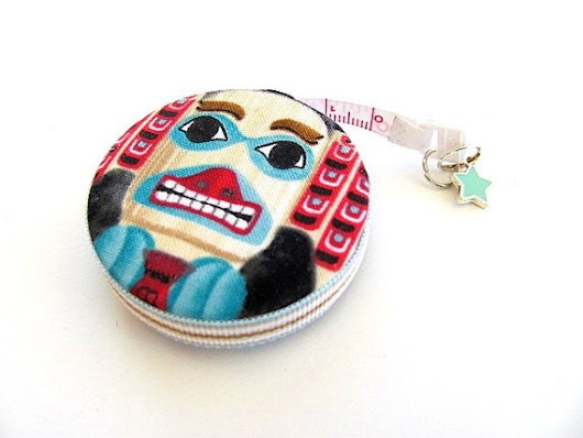 Tape Measure Native American Totems by AllAboutTheButtons on Etsy