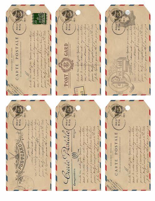 Airmail Tag Free Printables