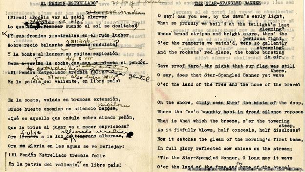 manuscrito de Clotilde Arias