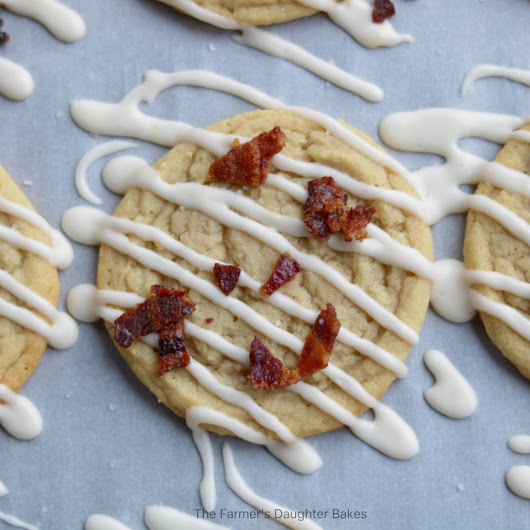 Maple Bacon Cookies - The Farmers Daughter Bakes