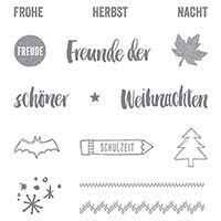 Project Life In Herbst und Winter 2015 Photopolymer Stamp Set (German) by Stampin' Up!