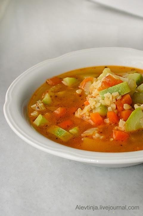 овощной суп с булгуром1