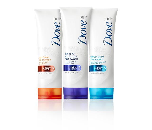 New Dove Beauty Facial Cleansers with NutriumMoisture™ Beauty Serum for bouncy and happy skin