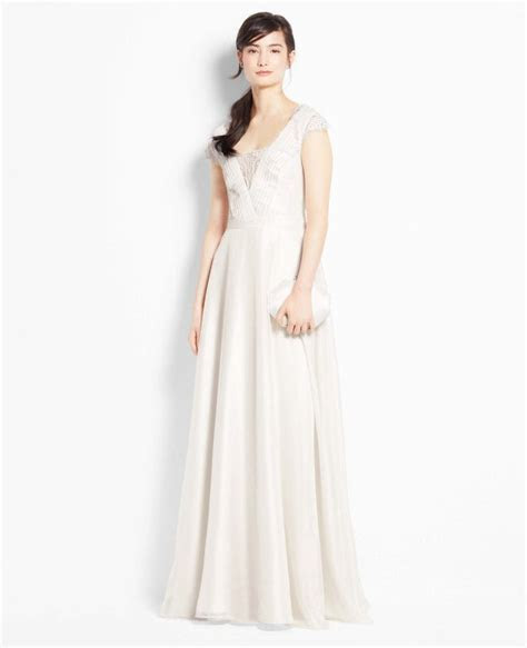 Ann Taylor Lace Cap Sleeve Wedding Dress   14 Gorgeous
